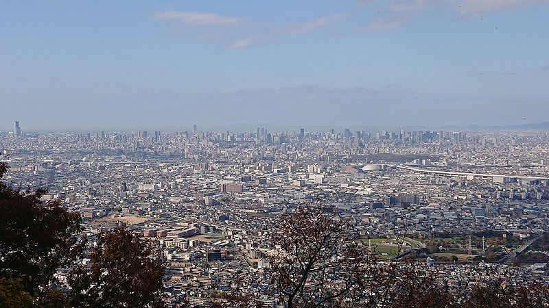 大阪平野を見下ろして♬
